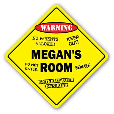 megan s room sign bedroom decor door children s name