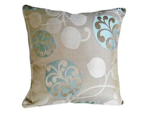 pillows for tan couch contemporary throw pillows taupe tan and turquoise blue