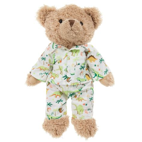 Teddy Piyama by Powell Craft Teddy In Dinosaur Pyjamas 30cm