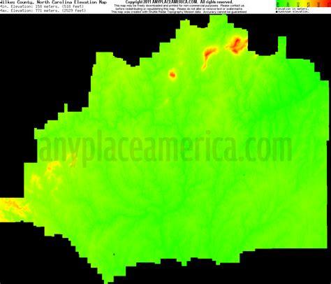 carolina elevation map free wilkes county carolina topo maps elevations