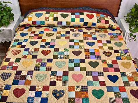 Patch Quilt by Hearts And Nine Patch Quilt Outstanding Meticulously
