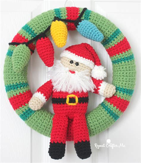 crochet pattern for xmas wreath crochet christmas wreath repeat crafter me