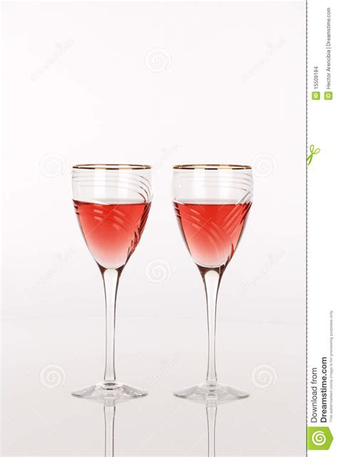 Luxury Wine Glasses by Two Luxury Wine Glasses Stock Images Image 15509184