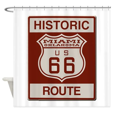 route 66 shower curtain miami route 66 shower curtain by lawrencesoldwest