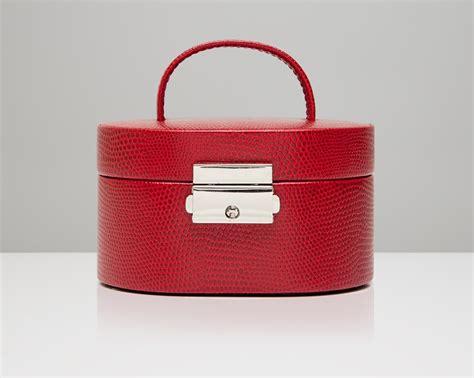 design brief for jewellery box travel mini oval jewelry box red 281404 wolf
