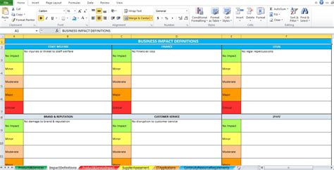 business impact analysis template xls business impact analysis template excel excel tmp