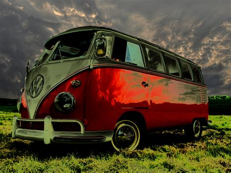 volkswagen old red old red vw bus wallpaper photos wallpaper wallpaperlepi