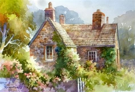 Cottage Paintings by Roland Travel Sketchbook New Roland Paintings