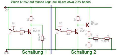 transistor npn inverter transistor als inverter mikrocontroller net