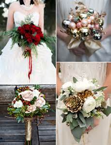 And green bouquets for 2015 trending winter christmas wedding ideas