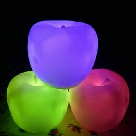 Changed 7 Colors Apple L discount led light change apple shaped led mood l light