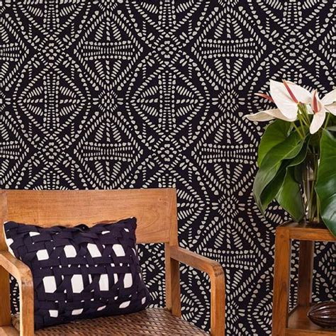 batik design tiles african tribal batik allover wall stencil royal design