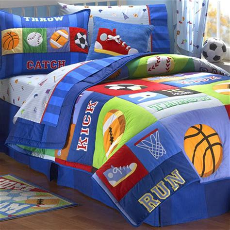 boy toddler bed sets sports quilts for boys best home kids bedroom with sport
