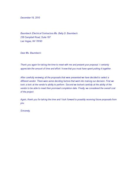professional job rejection letter templates
