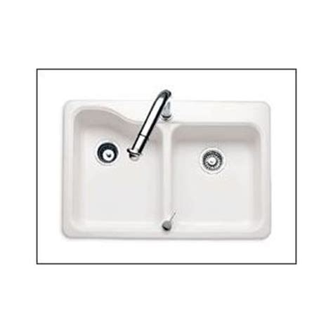 Americast Kitchen Sinks American Standard 7163 202 345 Bisque Basin Americast Kitchen Sink From The Silhouette