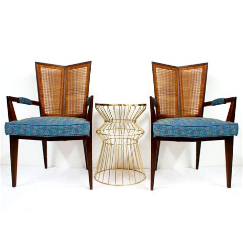mid century michael for baker arm chairs pair