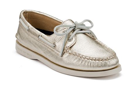 best boat shoes ever women s sperry top sider in platinum gold