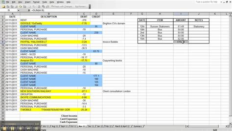 simple bookkeeping with excel basic bookkeeping