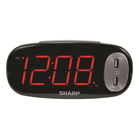 sharp spc digital led alarm clock