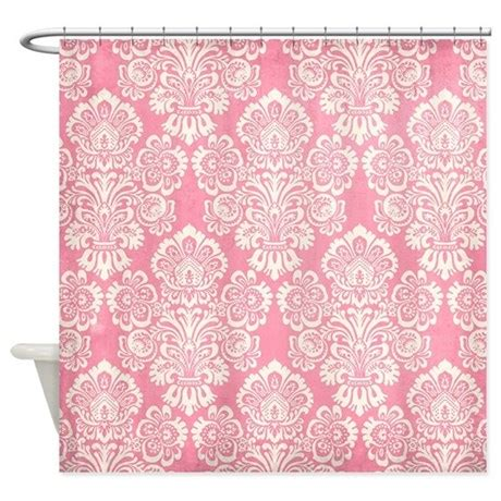 trendy shower curtains trendy vintage pink damask shower curtain by yourperfecthome