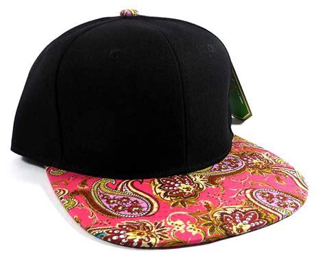 wholesale s blank paisley snapback hats caps 5