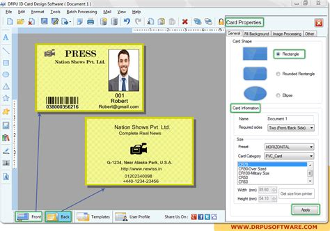 employee id card design software free drpu id card design software design student employee id