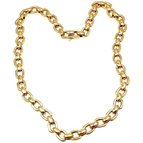 chain jewelry cartier link chain yellow gold necklace at 1stdibs