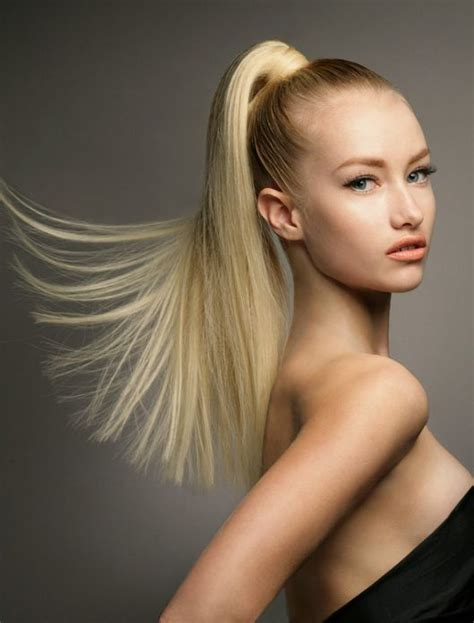 pony tail with fringes back fast summer hairstyle high ponytail ponytail hairstyle
