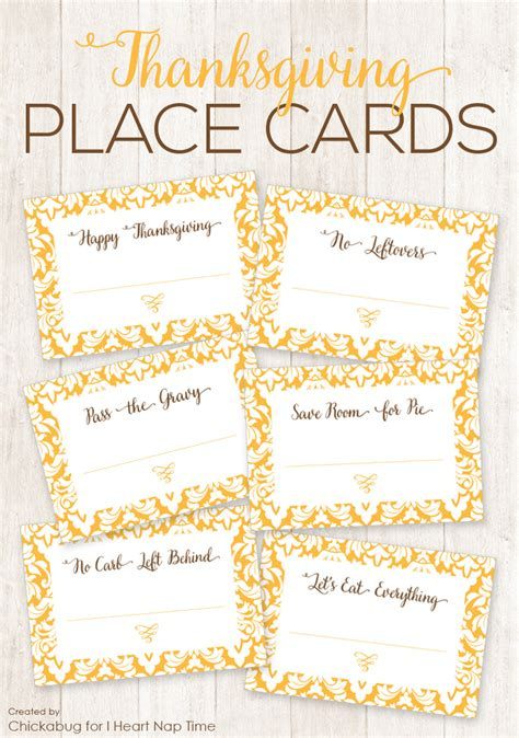 printable thanksgiving seating cards thanksgiving place cards i heart nap time