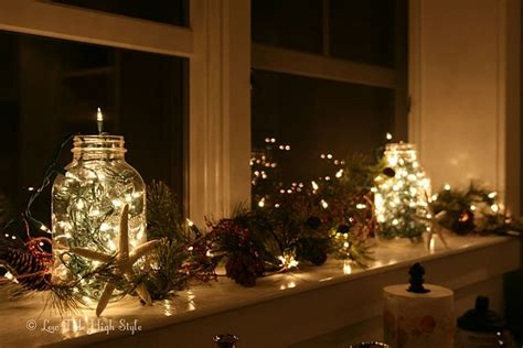 christmas kitchen windowsill kitchen decor