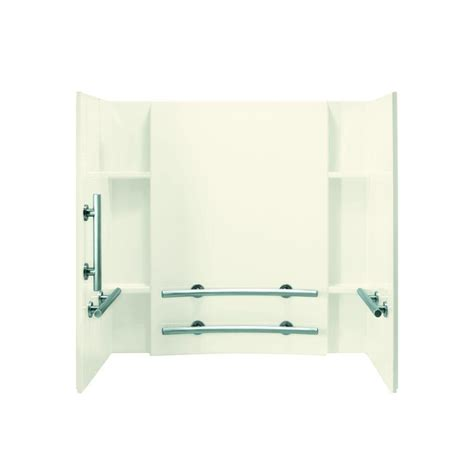 How To Install Tub Surround Direct To Stud sterling ensemble tile 33 1 4 in x 60 in x 55 1 4 in 3