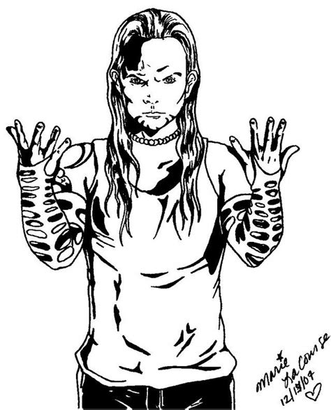 Coloring Pages Of Wwe Wrestlers Coloring Home Jeff Hardy Coloring Pages