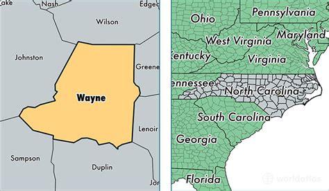 Wayne County Records Nc Wayne County Carolina Map Of Wayne County Nc