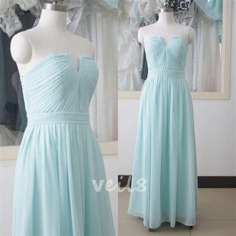 baby blue floor l blue chiffon bridesmaid dress light blue