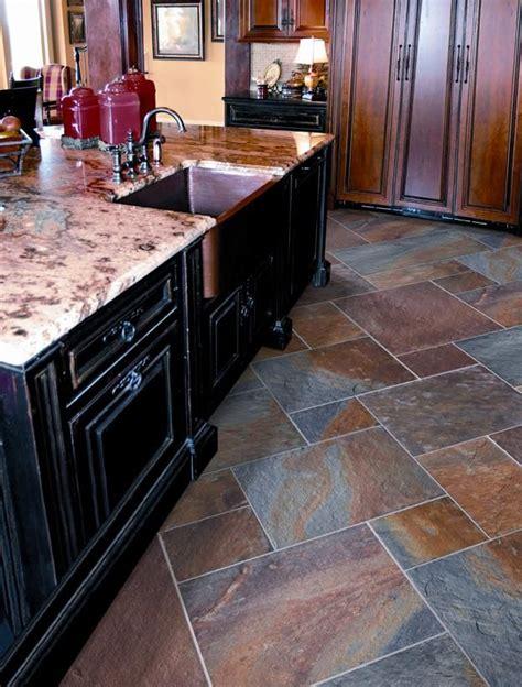 coordinating wood floor with wood cabinets best 25 slate tile floors ideas on slate