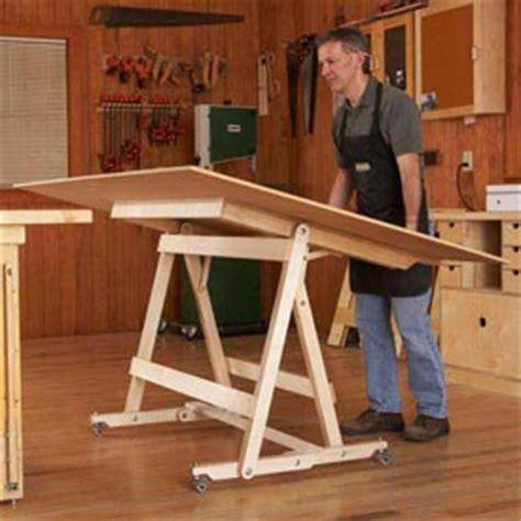 flip top work center woodworking plan  wood magazine