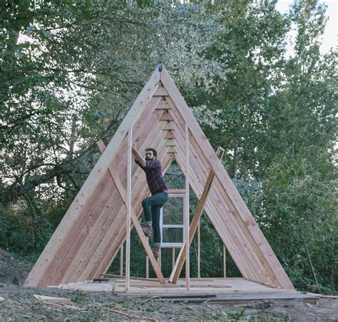 cost to build a frame house uo journal how to build an a frame cabin designed