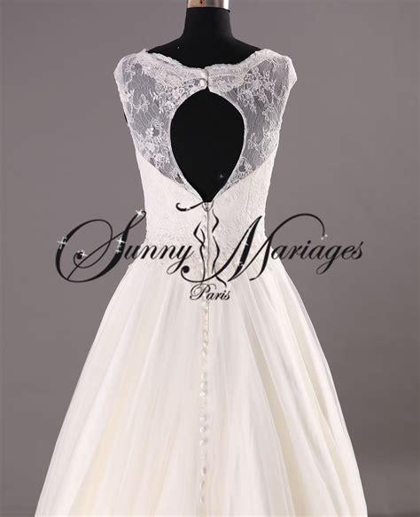 Robe De Mariée Simple Dentelle Dos - robe de mariee dentelle dos ouvert sur mesure