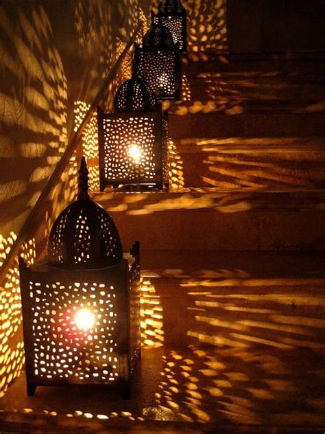 Outdoor Lighting Photography Arabian Style Lanterns Cast Cozy Glow On The Stairs Light Photography My Yard