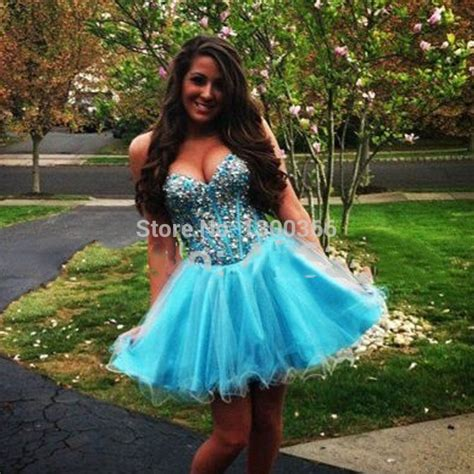 light blue graduation dress beaded a line gowns