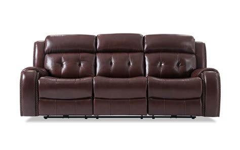 power leather sofa magellan power reclining leather sofa bob s discount