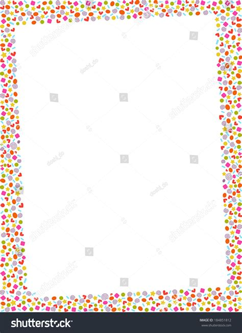 Colourful Basic Clip colorful page border multicolored basic shapes stock
