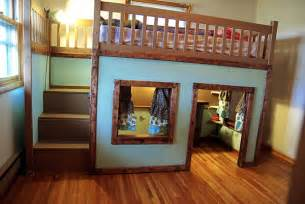 stylish bunk beds stylish eve diy projects build a playhouse loft bed for