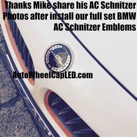 Emblem Ac Schnitzer Alumunium Gel bmw ac schnitzer forged 74mm trunk emblems badge roundel