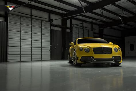 bentley yellow yellow bentley continental gt br 10rs by vorsteiner