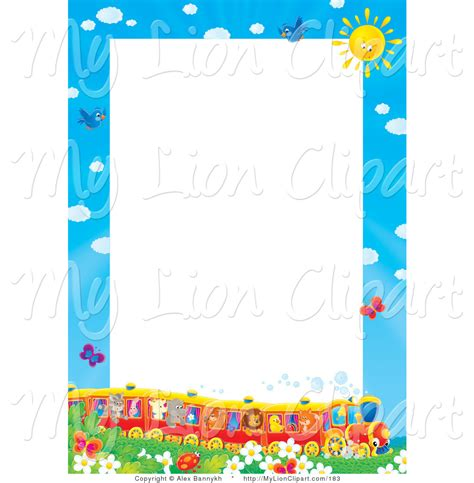 May Borders Clipart by Transportation Border Clip 13