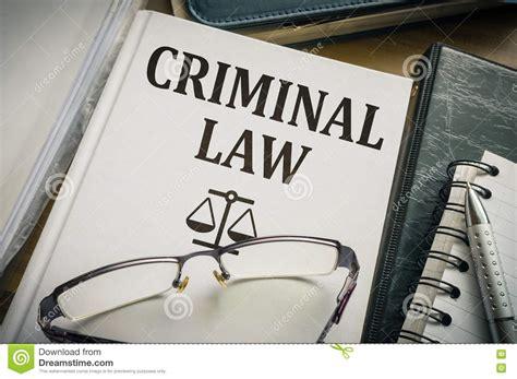 criminal law criminal law book legislation and justice concept stock