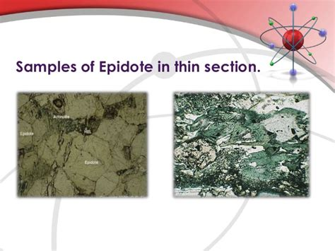 epidote in thin section epidote group