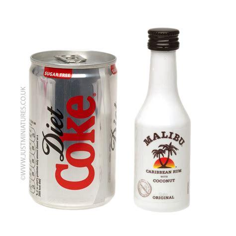 malibu mini malibu coconut rum diet coke miniature mini can set