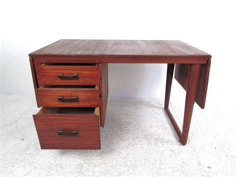 Desk Biosphere by Sculptural Mid Century Modern Drop Leaf Writing Desk For
